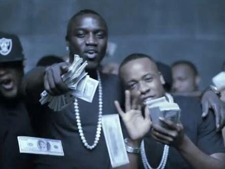 Akon with money