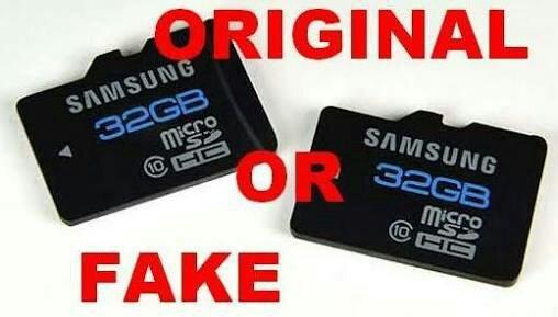 Fake or original memory card