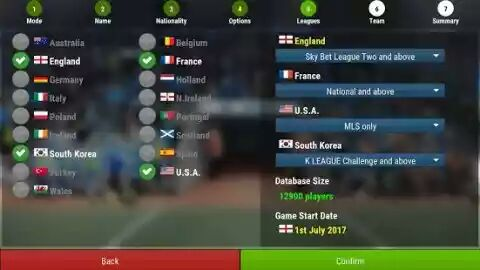 Football Manager Mobile 2018 apk team setup