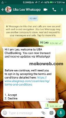 Uba whatsapp chatting