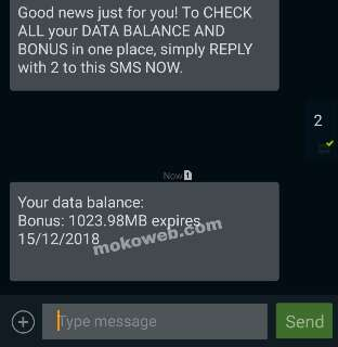 MTN 1gb free data