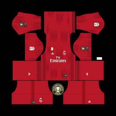 san francisco 35ecb eafab Kits Dream League Soccer 2019 Real Madrid Portero ...