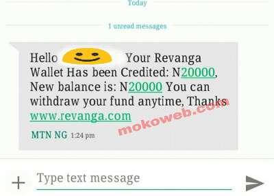 Revanga earnings sms