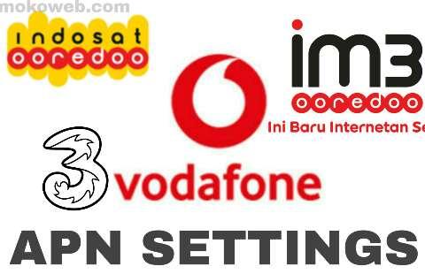 Telkomsel Indosat Vodafone APN settings