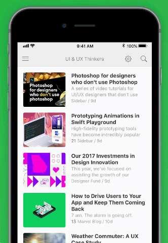 Feedly news app