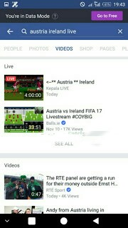 Watch live football matches on Facebook