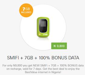 SMILE 7GB Data and 100% bonus